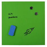 Magnetisch glasbord Lime Green, 45x45 cm